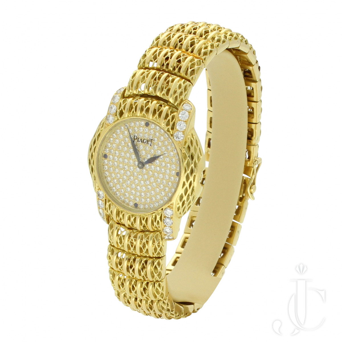 Piaget Gold and Diamond Bracelet Watch