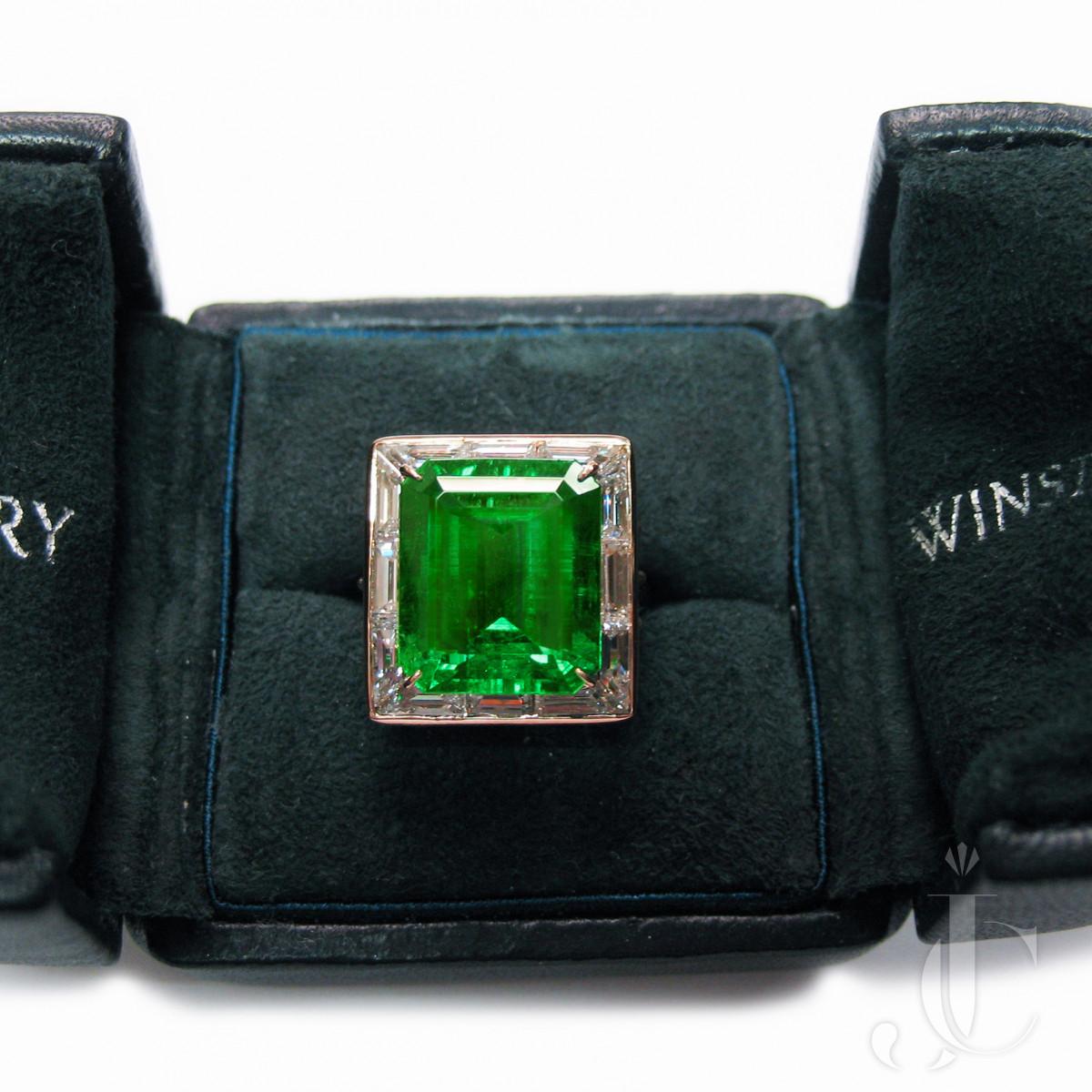 Harry Winston, Colombian Emerald 8.38 cts. No Treatment