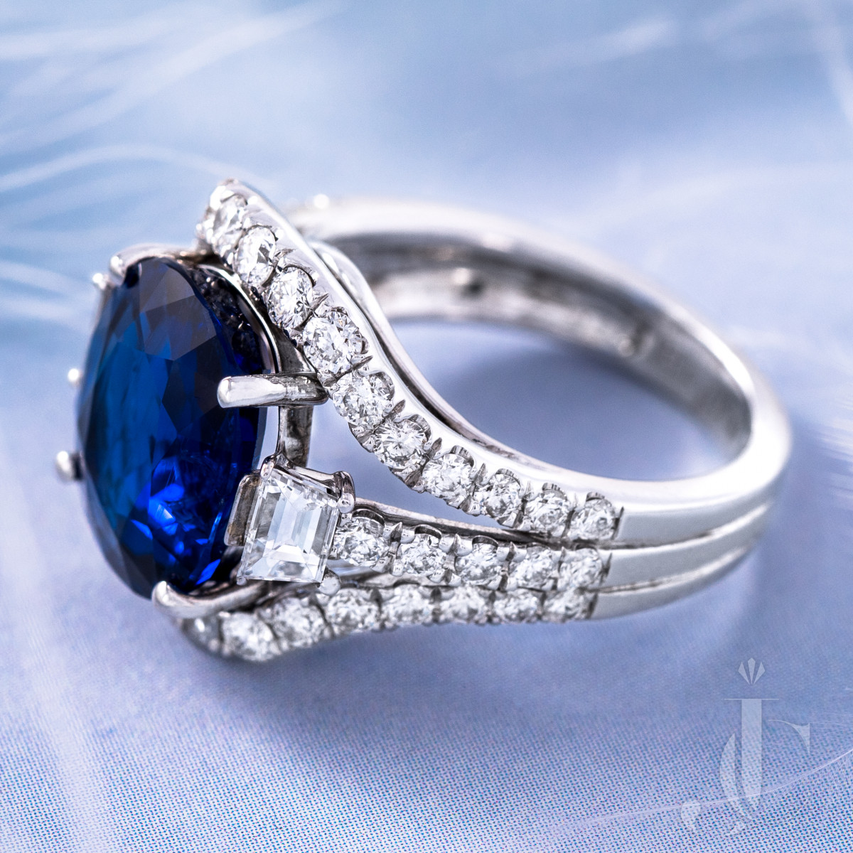 Burma NH Sapphire and Diamond Ring