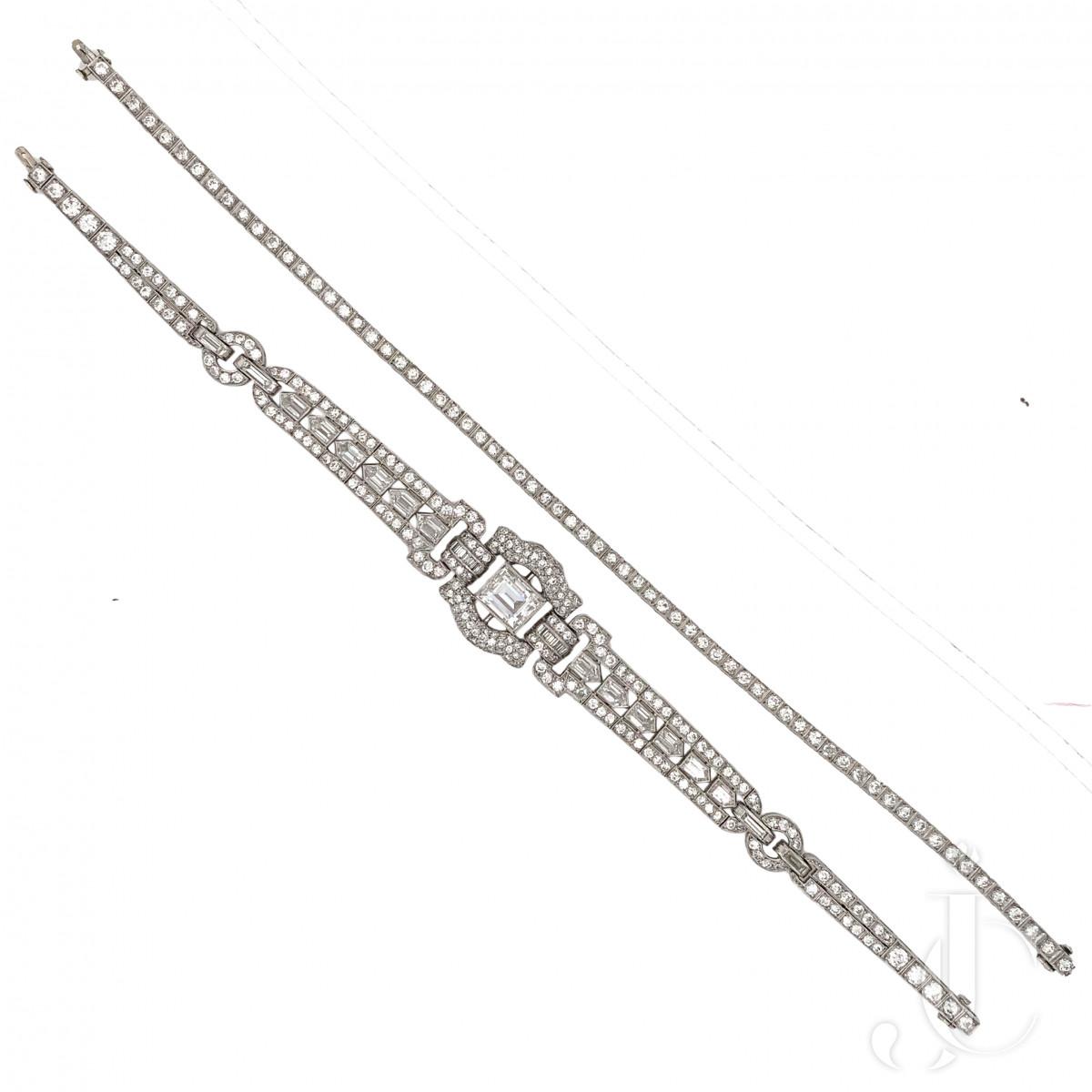 Art Deco Diamond Necklace/Bracelet