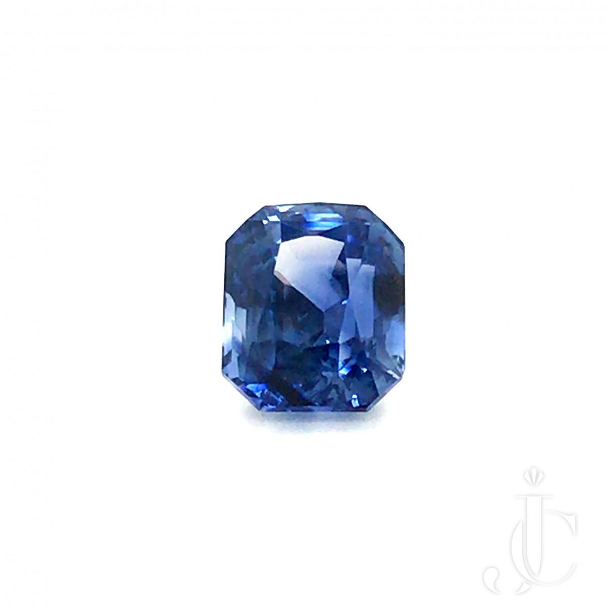 Natural no heat octagon Ceylon Sapphire 9.30ct blue with FGL lab report