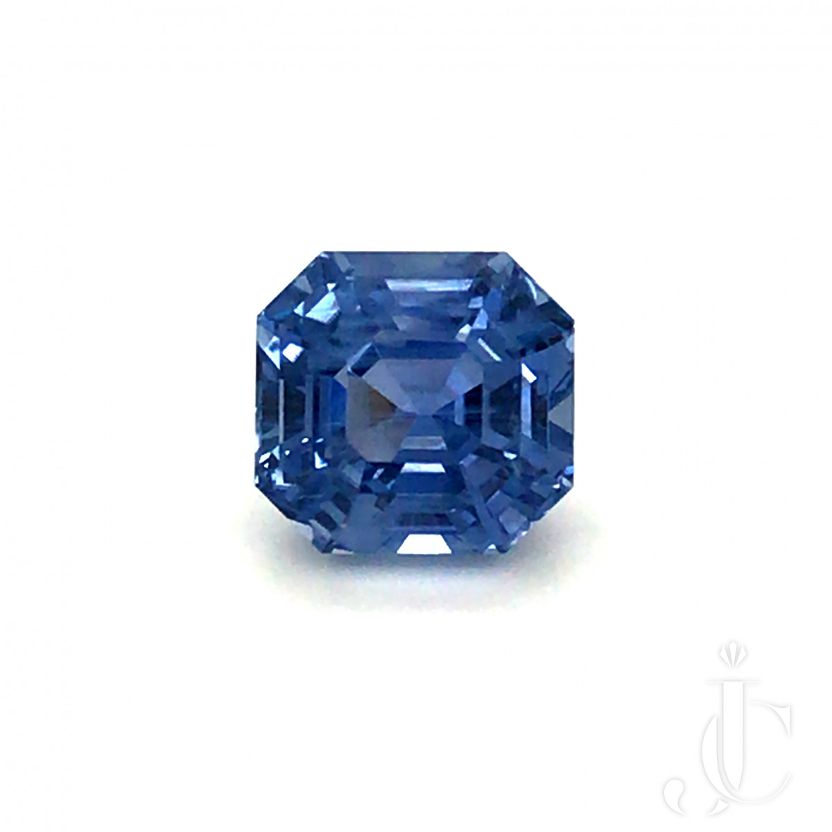 Natural no heat octagon / asscher cut Ceylon Sapphire 9.06ct blue with DSEF lab report