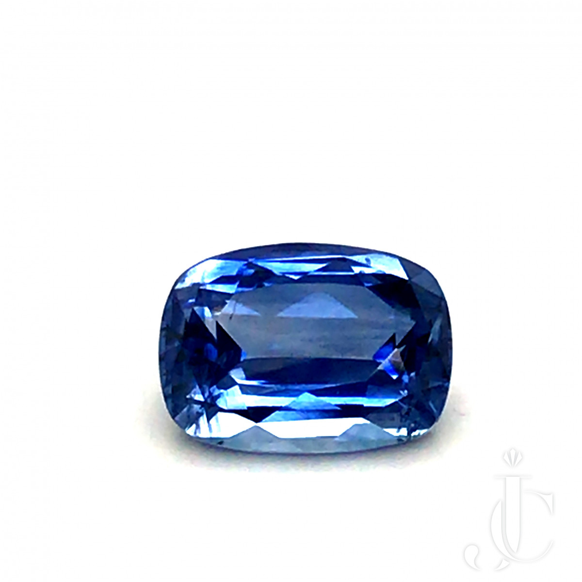 Natural cushion Sapphire 6.62ct cornflower blue with CGJ lab report