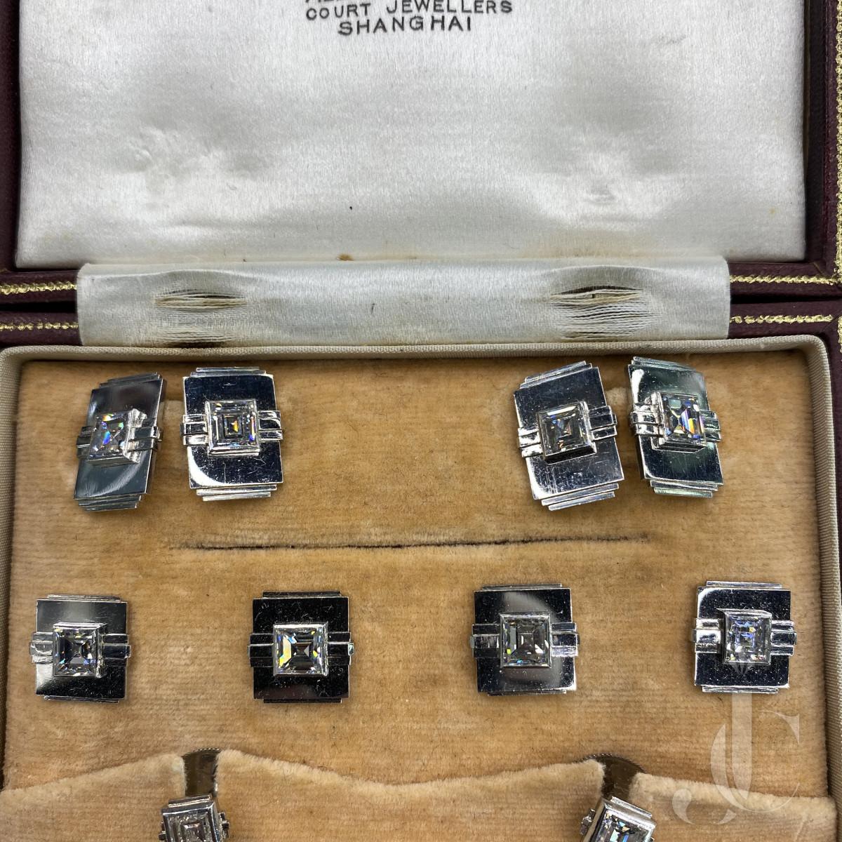 Platinum Diamond Stud Set