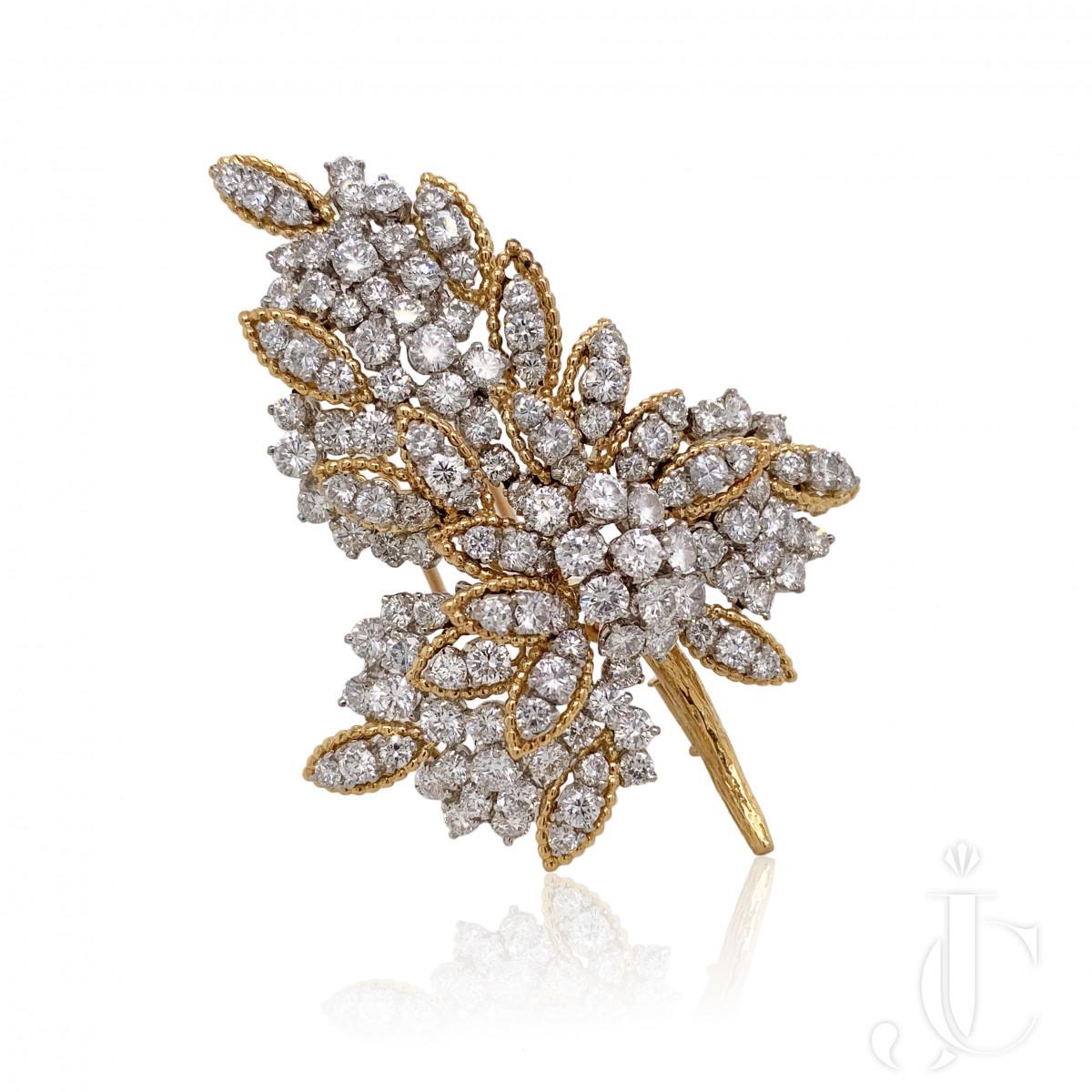 Boucheron  Yellow Gold Diamond Brooch