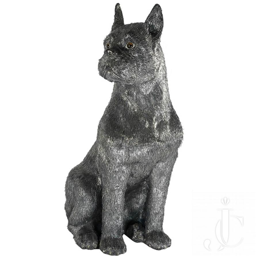 Buccellati Silver Furry Animals Boxer Dog