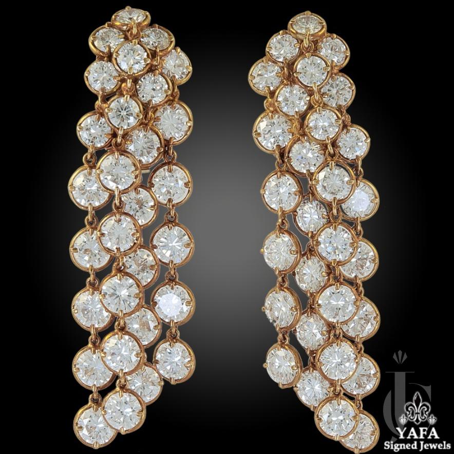 Van Cleef & Arpels Diamond Palmyre Earrings