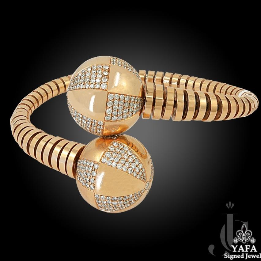 Bulgari Gianna Enigma Diamond Bypass Bracelet