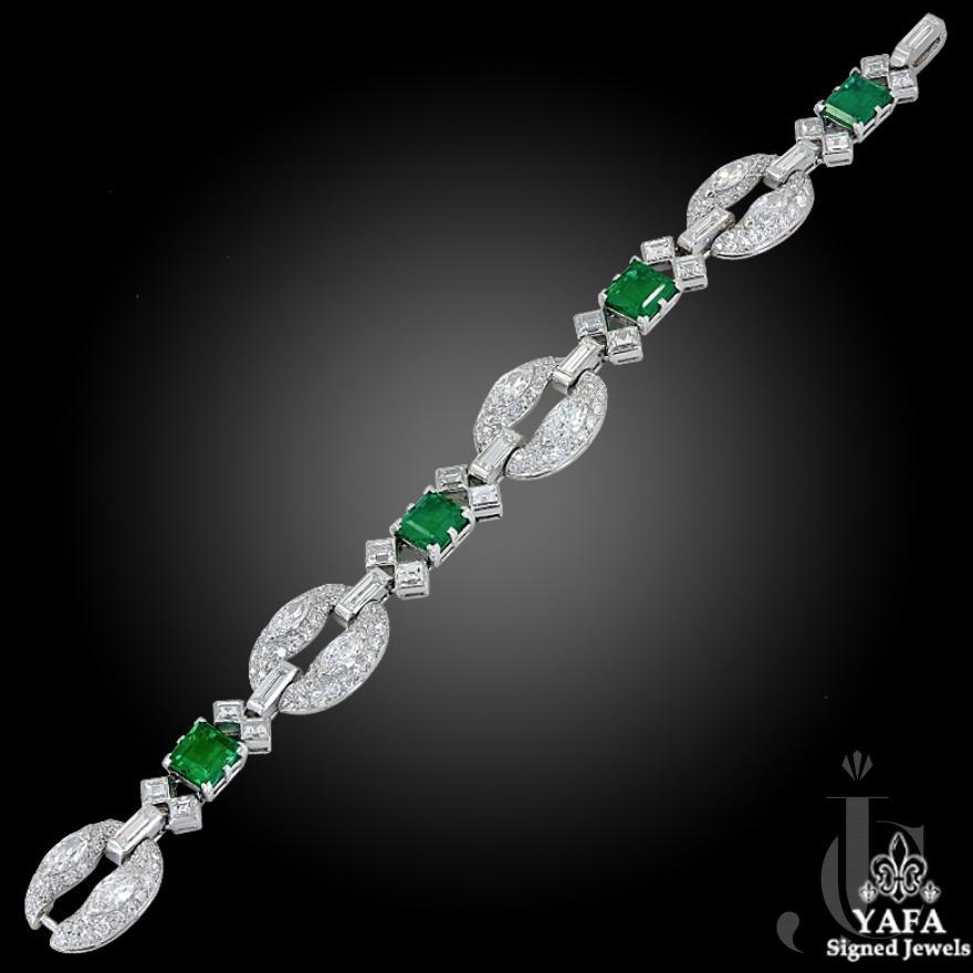 Bulgari Diamond, Colombian Emerald Bracelet