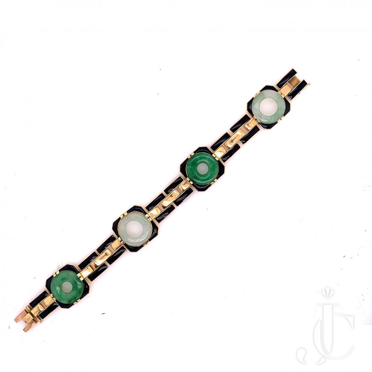 A enamel jade bracelet by George LEnfant