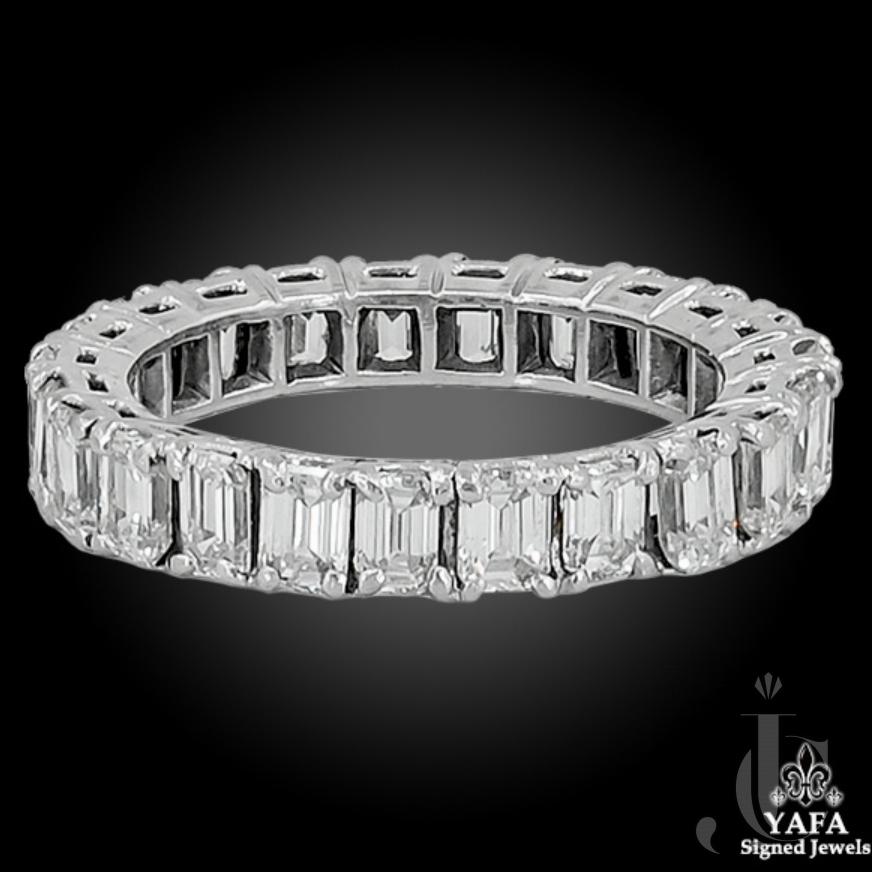 Diamond Emerald Cut Eternity Band Ring