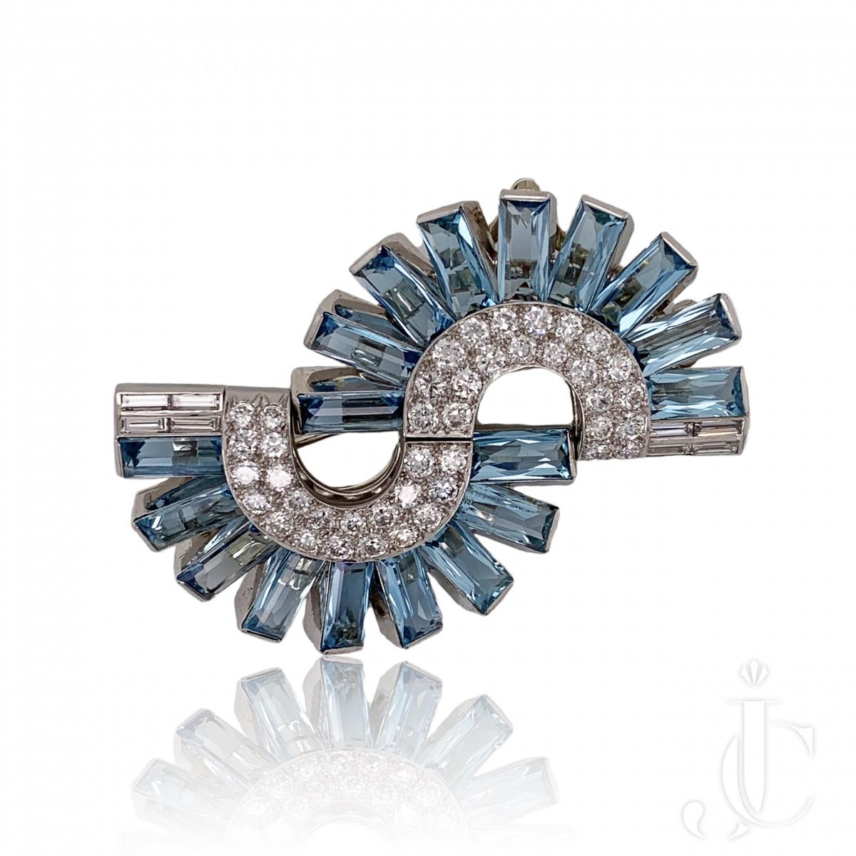 DECO AQUA DIAMOND DOUBLE CLIPS