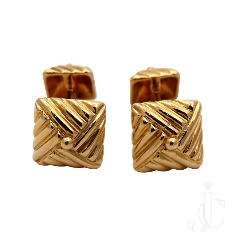 TEXTURED GOLD CUFFLINKS By EMIS BEROS