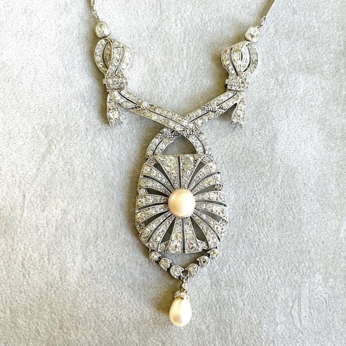 Platinum Diamond Pearl Collier