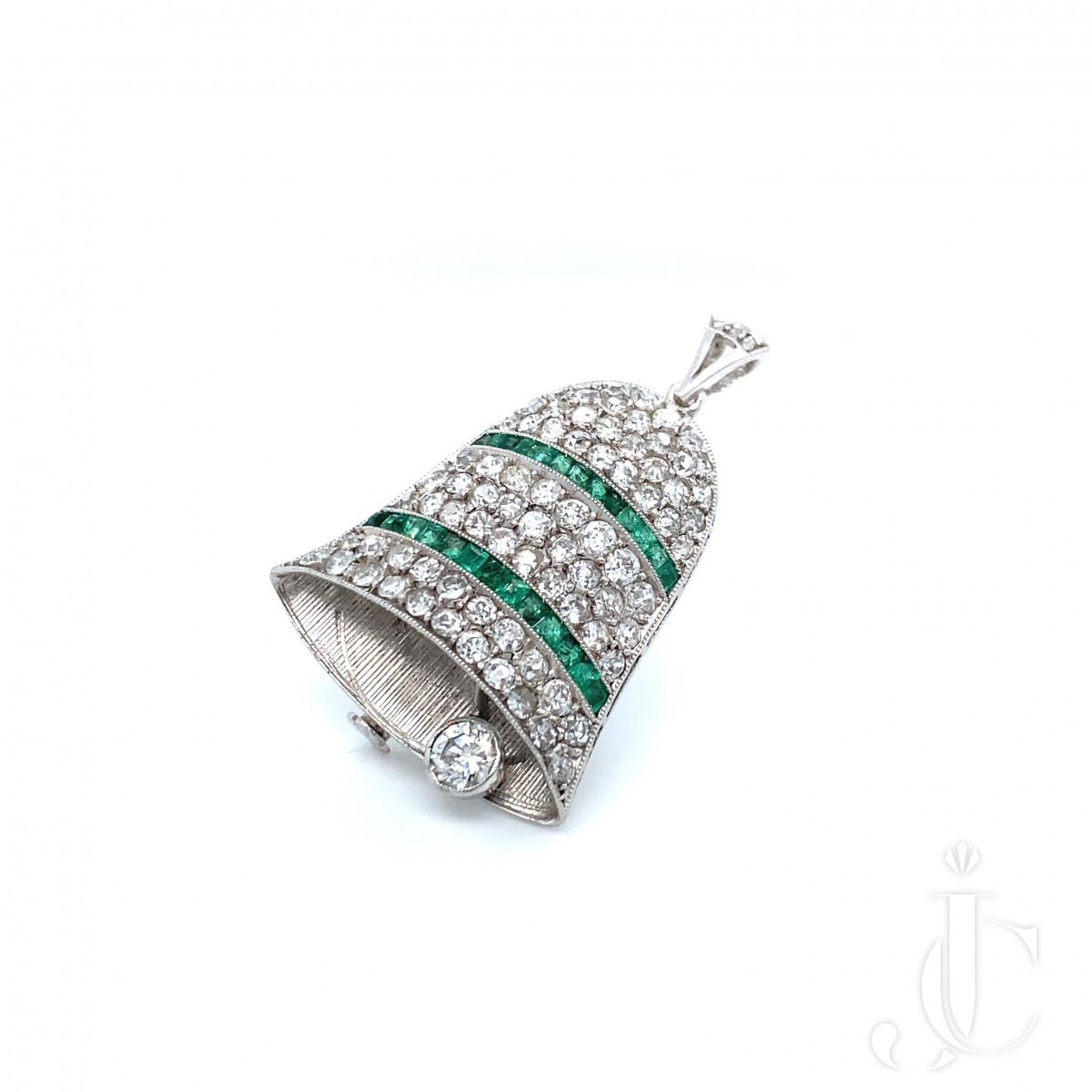 Platinum Diamond Bell Pin