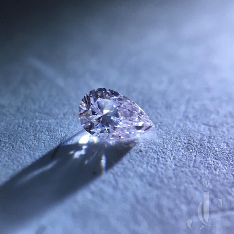 0.18 Light Pink Pear GIA Certified Natural Loose Diamond