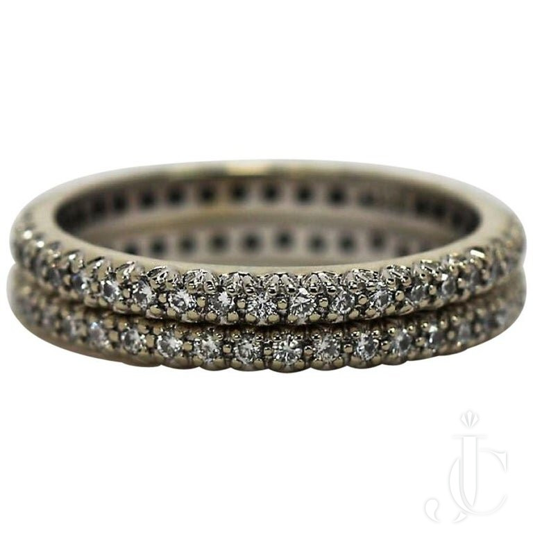 PAIR Of DIAMOND ETERNITY BANDS