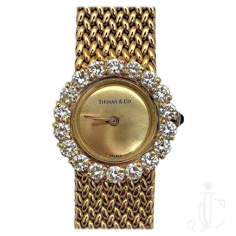 FRENCH TIFFANY & CO. DIAMOND And GOLD WATCH