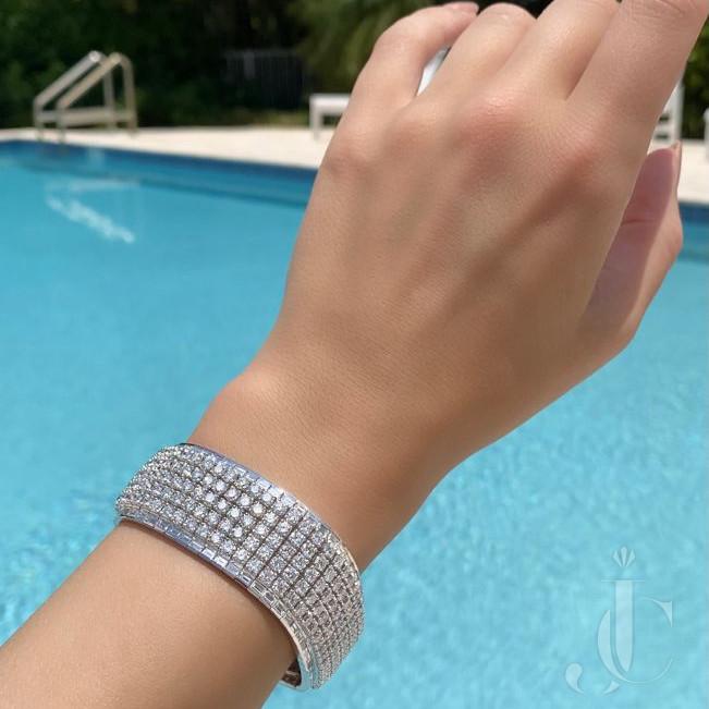 18 kt White Gold Diamonds Bracelet