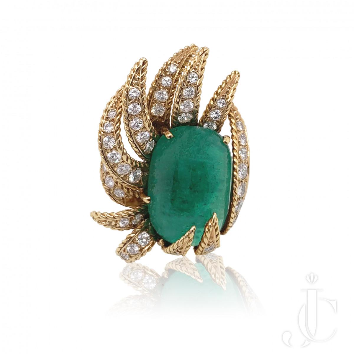 Sterle Emerald Diamond Ring