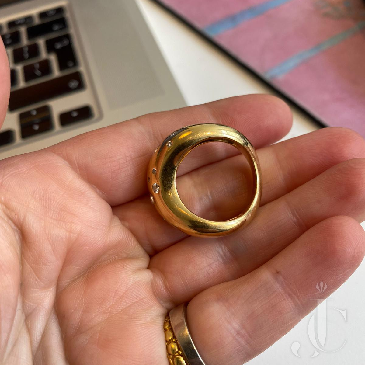 Fred of Paris gold and diamond ring
