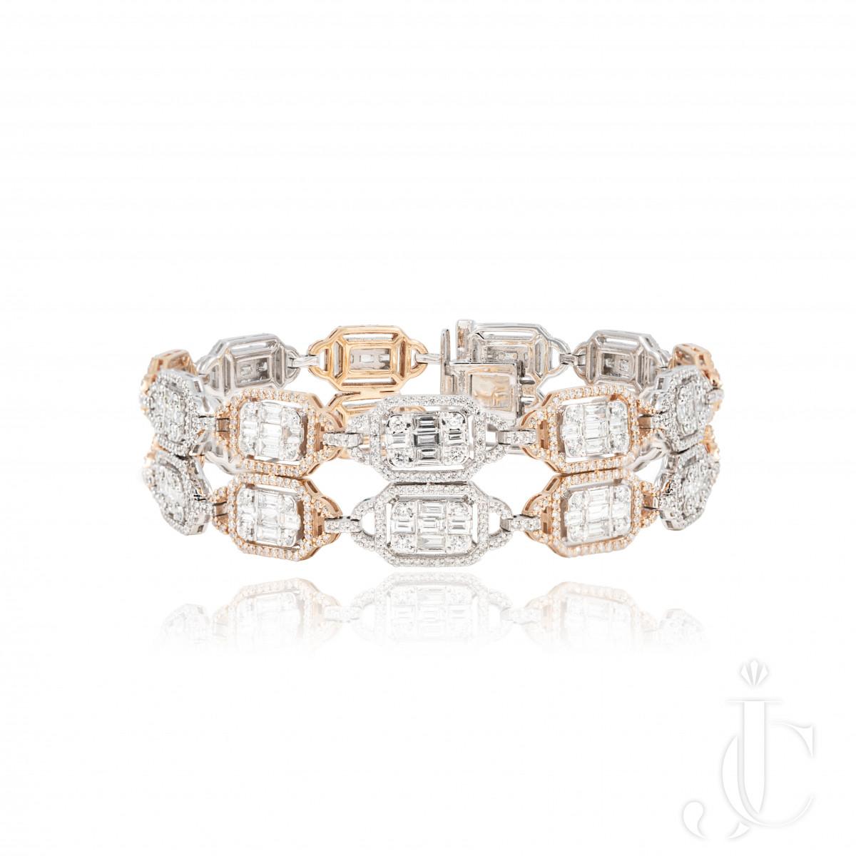 An Order of Bling Diamond Bracelet, 18 K Gold