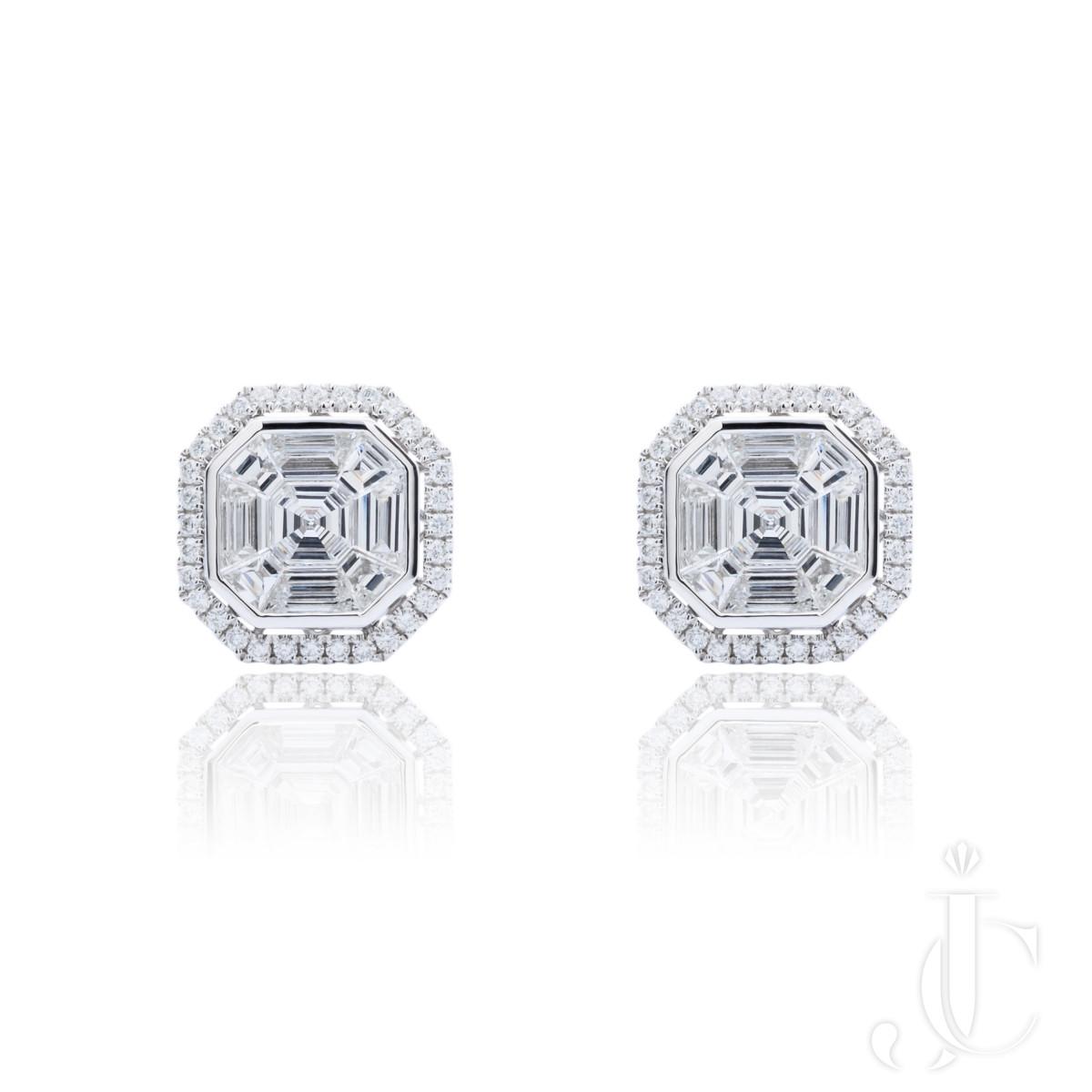 An Order of Bling Asscher Shaped Diamond Earrings