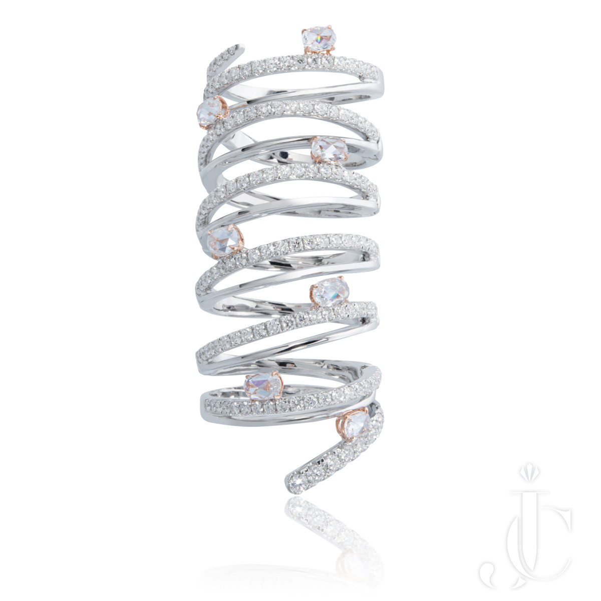 An Order of Bling Articulated Diamond Cocktail Ring