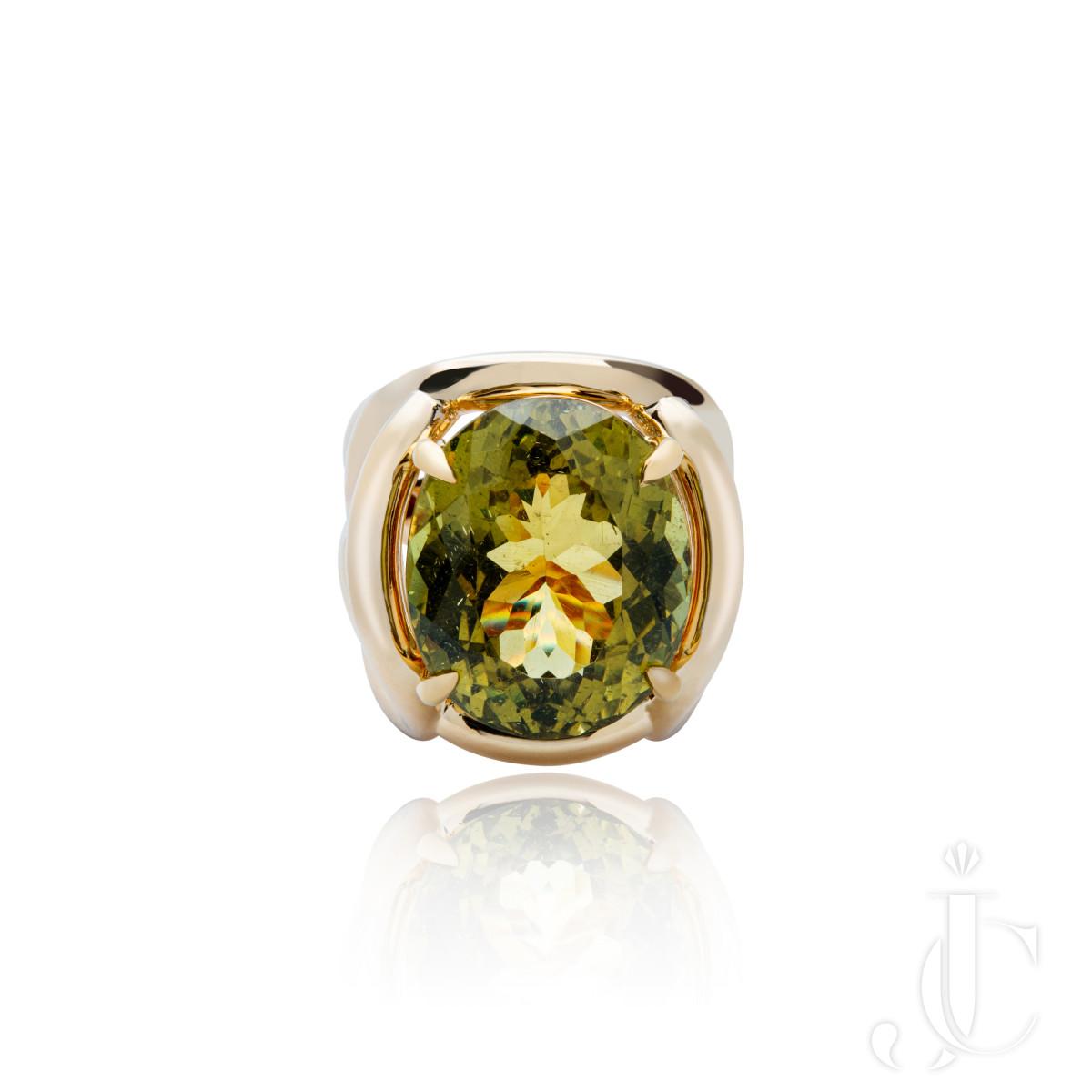 An Order of Bling Apatite Gemstone Cocktail Ring