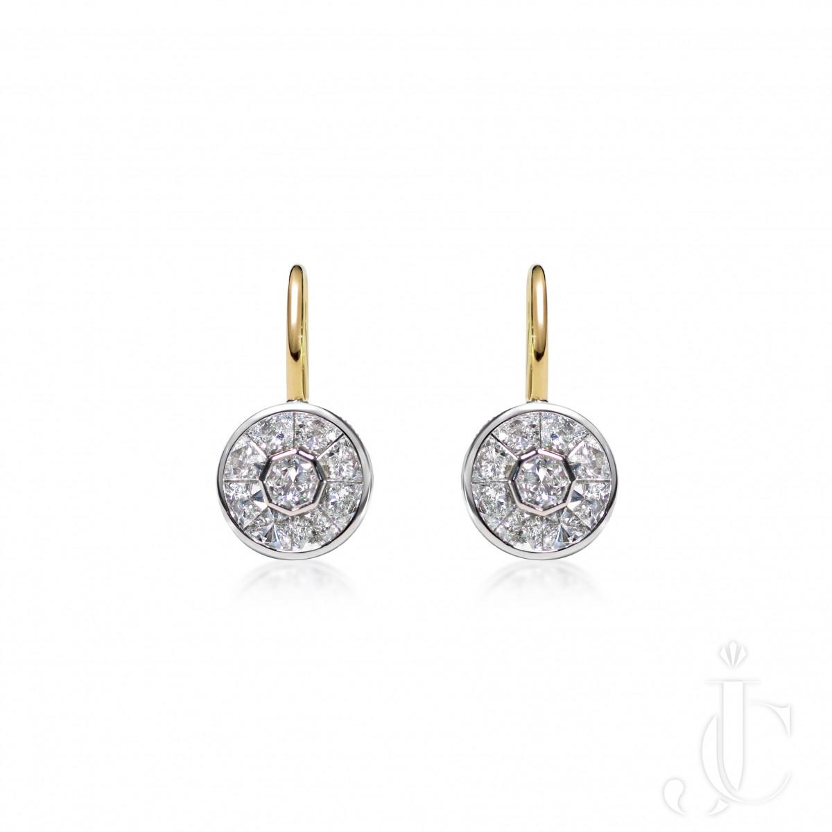 An Order of Bling Diamond and 18K Gold Earrings