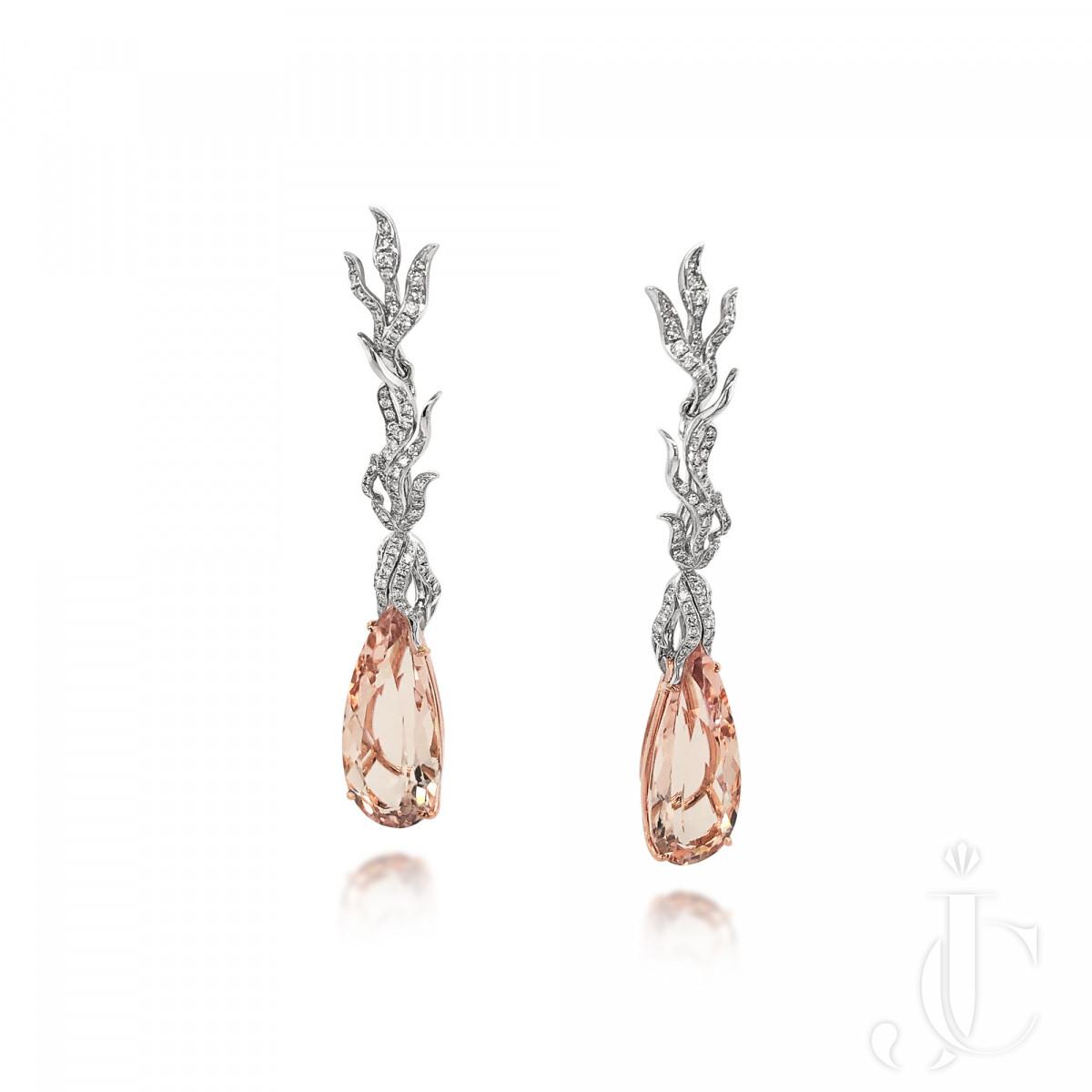 An Order of Bling Morganite and Diamond Earrings