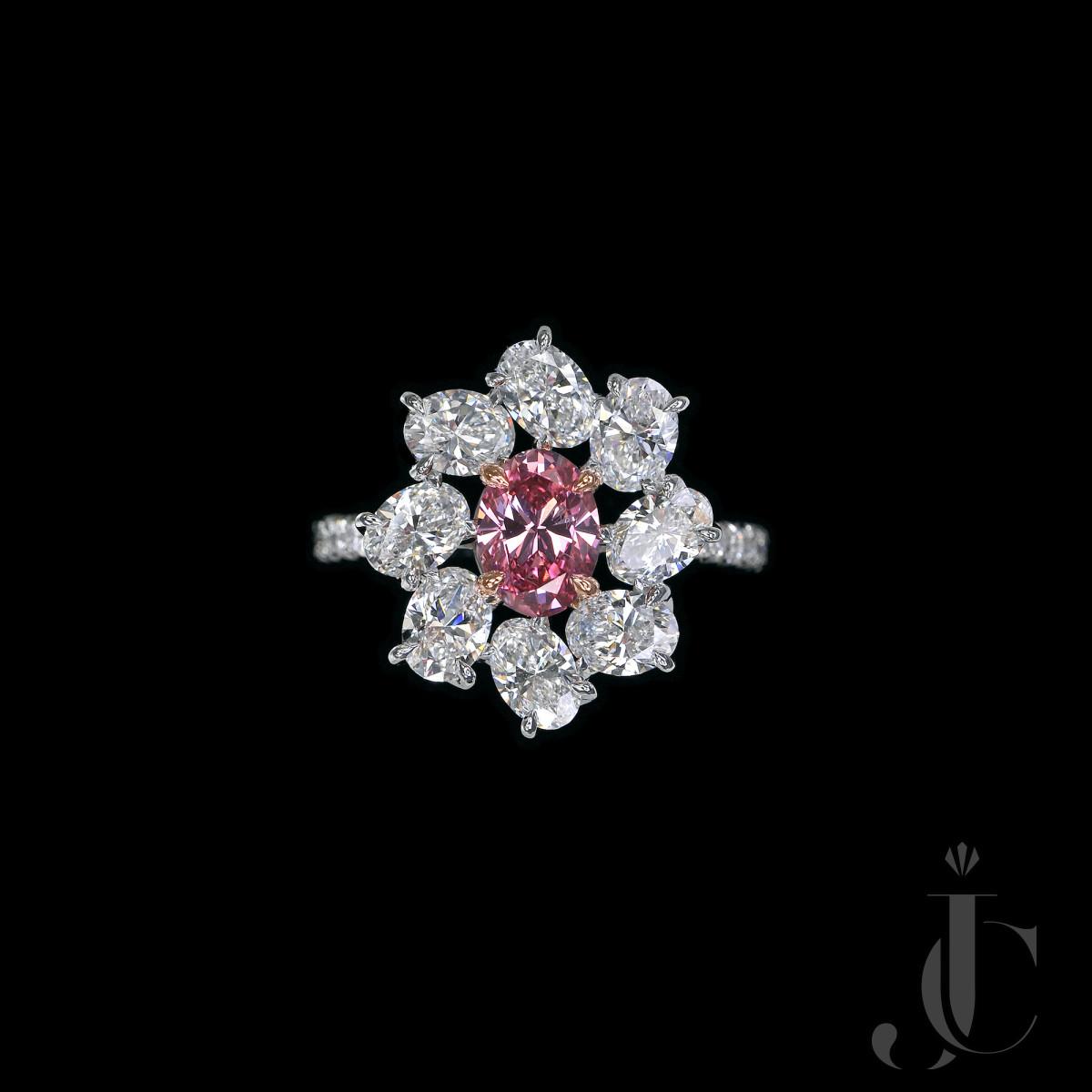 Fancy Vivid Argyle Pink Diamond Ring, GIA report & Argyle certificate available