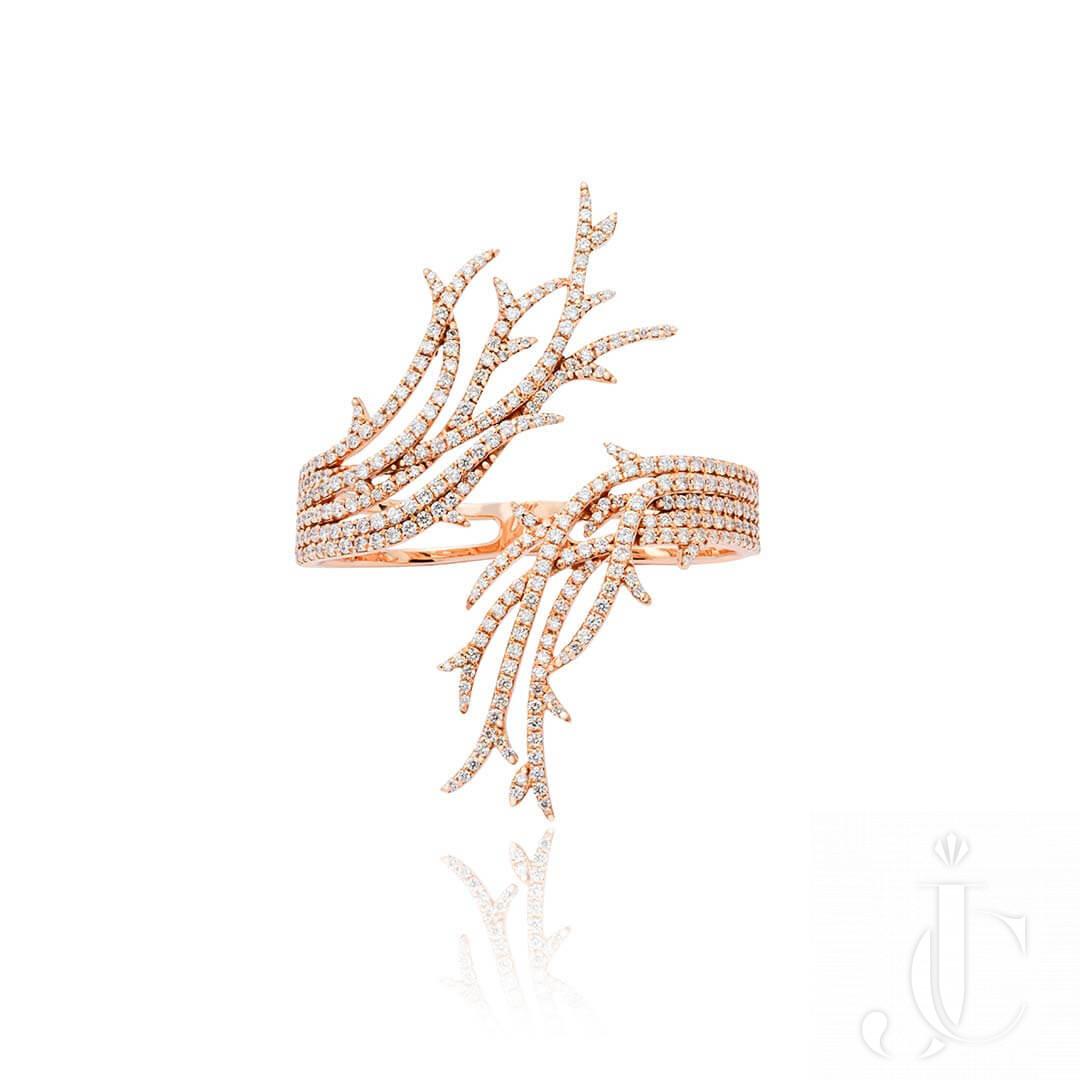 An Order of Bling Rose Gold Diamond Ring