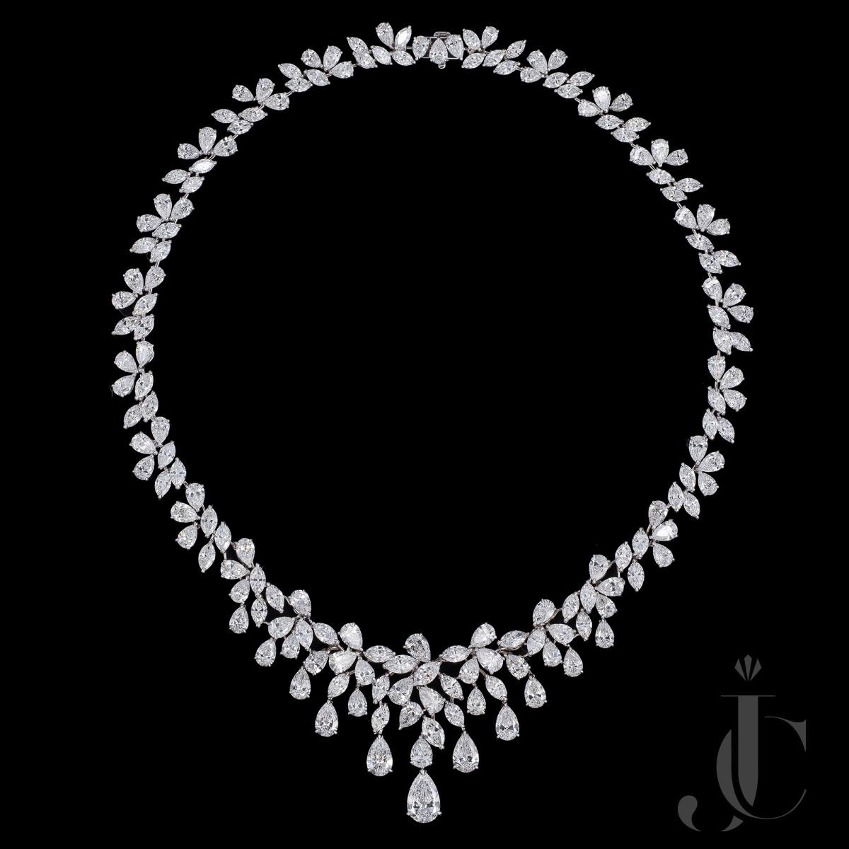 """Carmen I"" Diamond Necklace, GIA reports available"