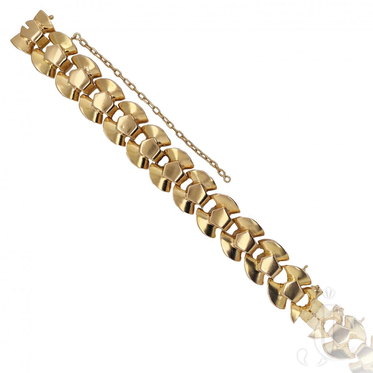 Retro French 18kt Gold Bracelet