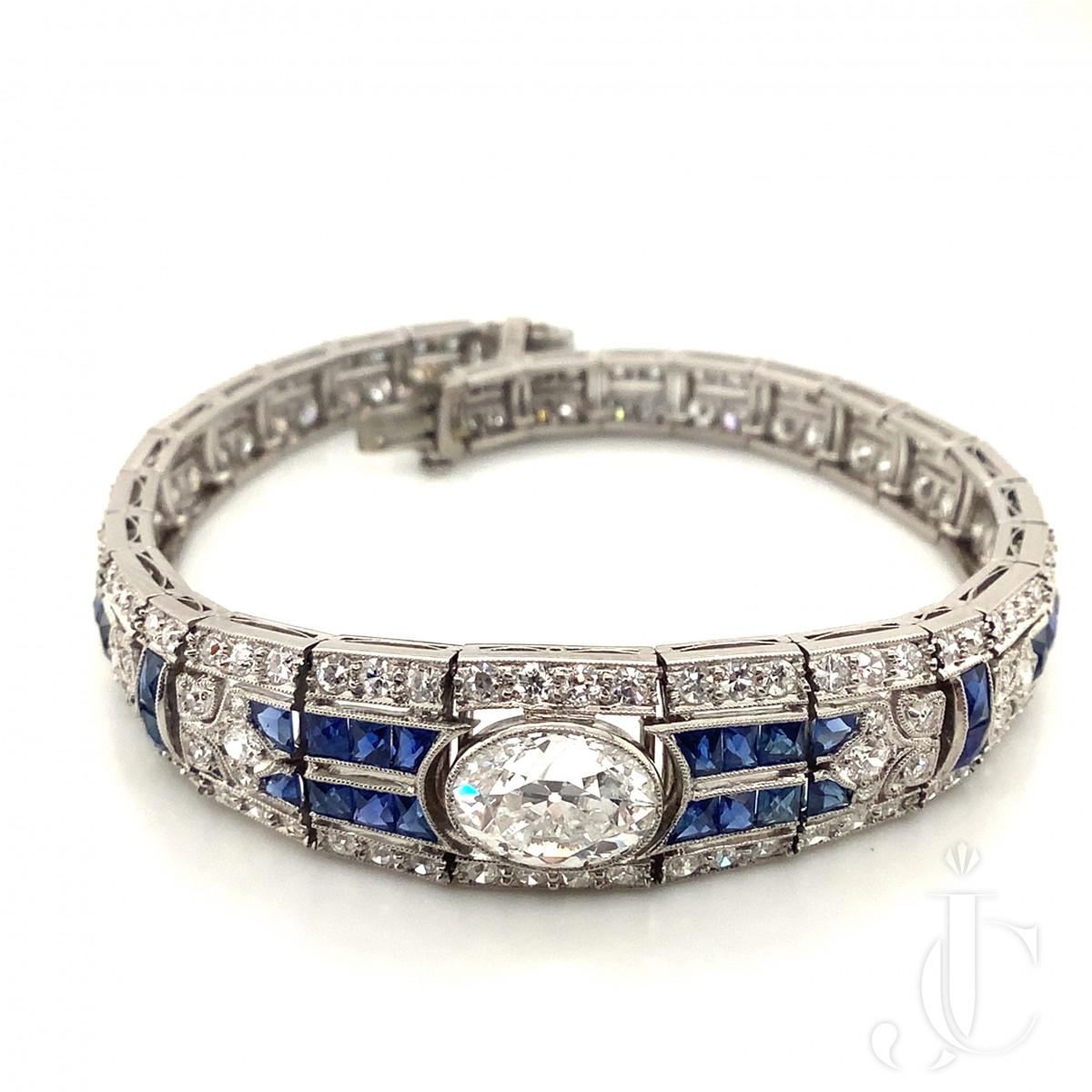 JE Caldwell Art Deco Diamond Bracelet