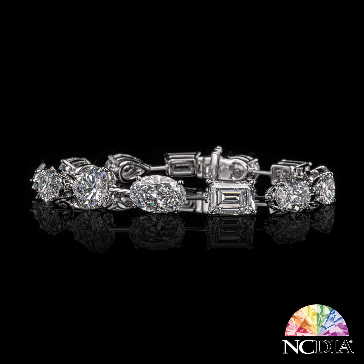 ALL DIF White Diamond straight row bracelet, GIA reports ava.