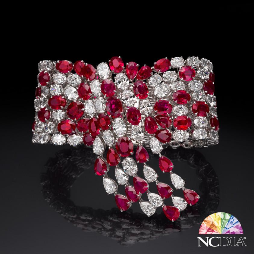 """""""Red Velvet"""" Ruby Diamond Bracelet, GIA certs ava."""