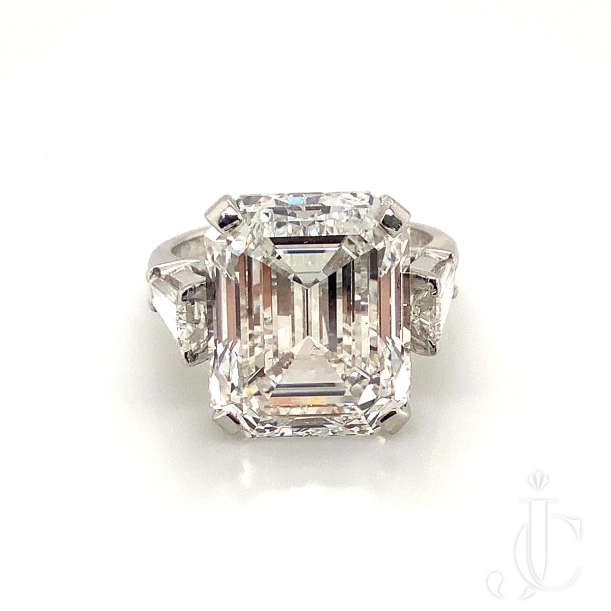 10.06ct Emerald Cut Diamond Ring