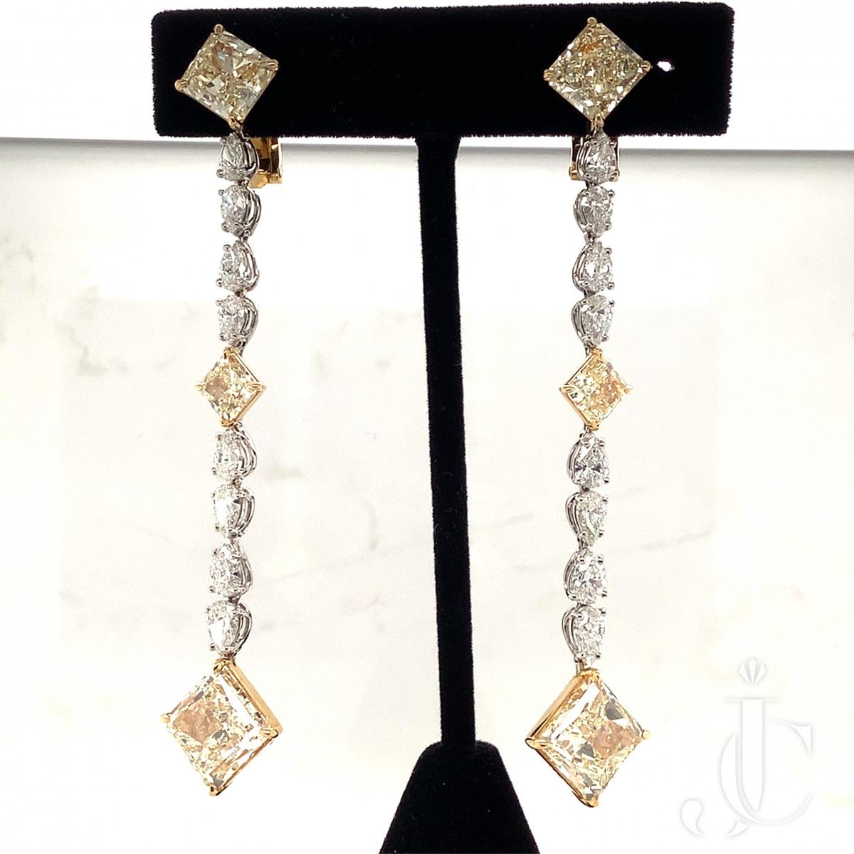 Pair of Hanging Diamond Earrings