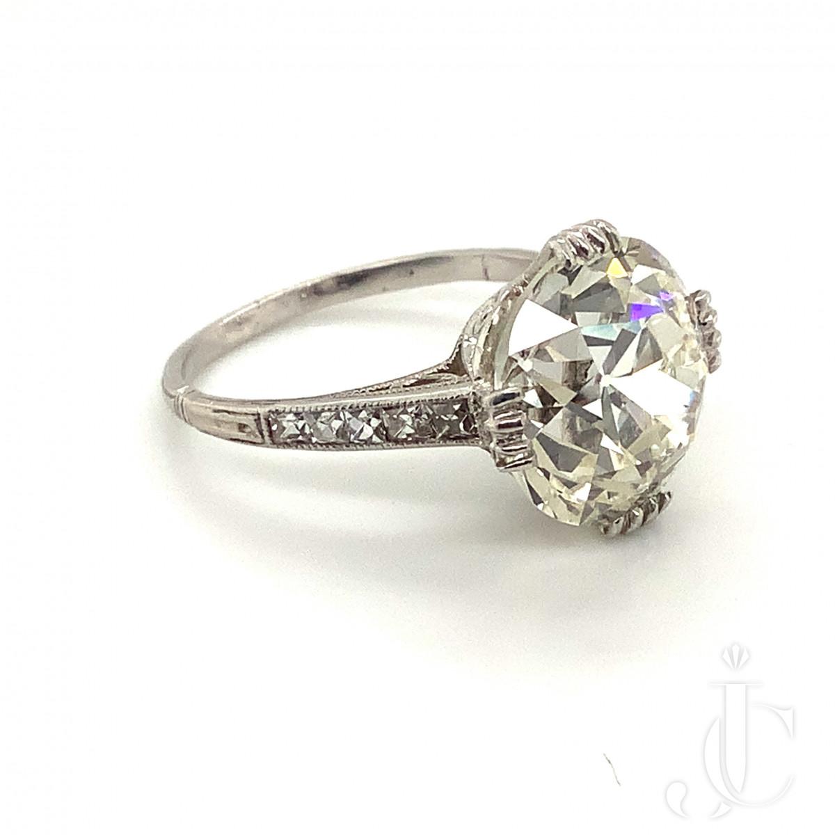 7.55ct Old European Cut Diamond Ring
