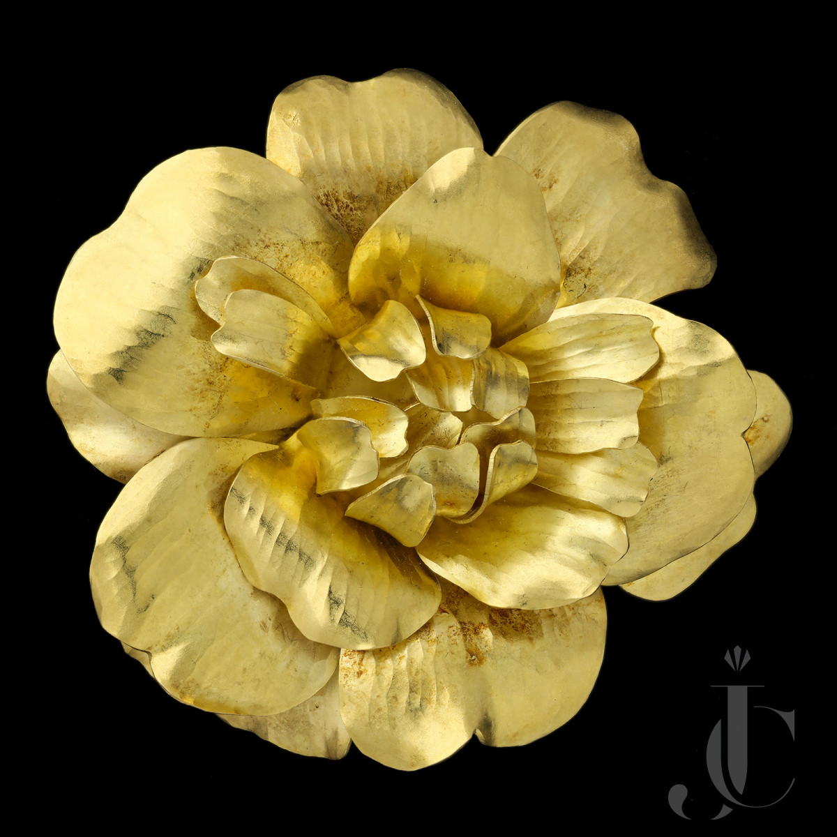 Cartier - Large Gold Rose Brooch 1959