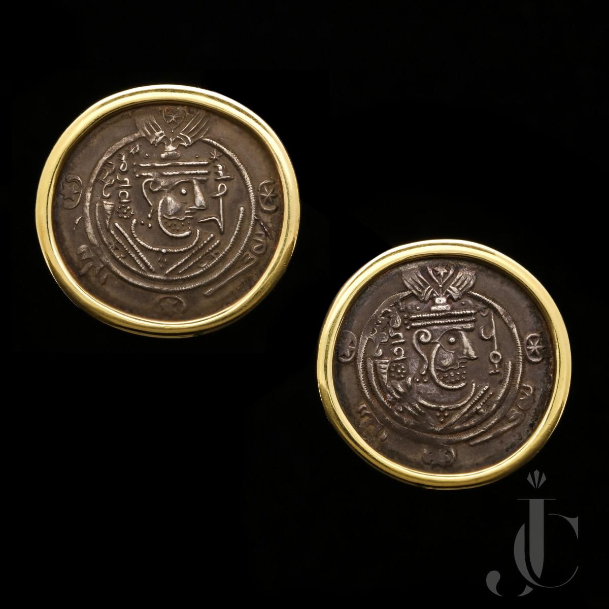 Bulgari - Ancient Persian Coin Earrings 1970s