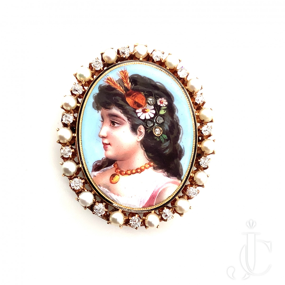 Portrait Brooch and Pendant