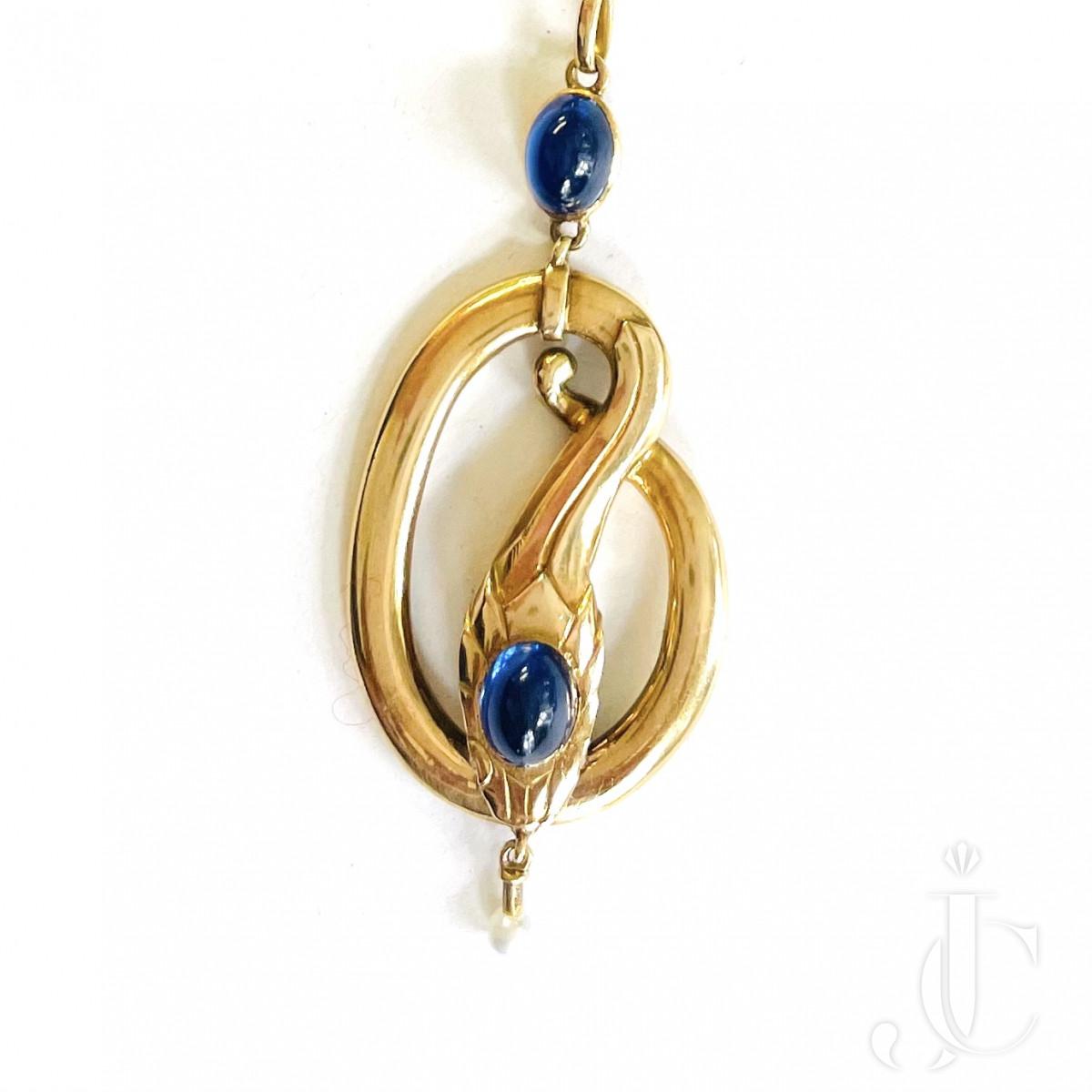 Sapphire Snake Pendant