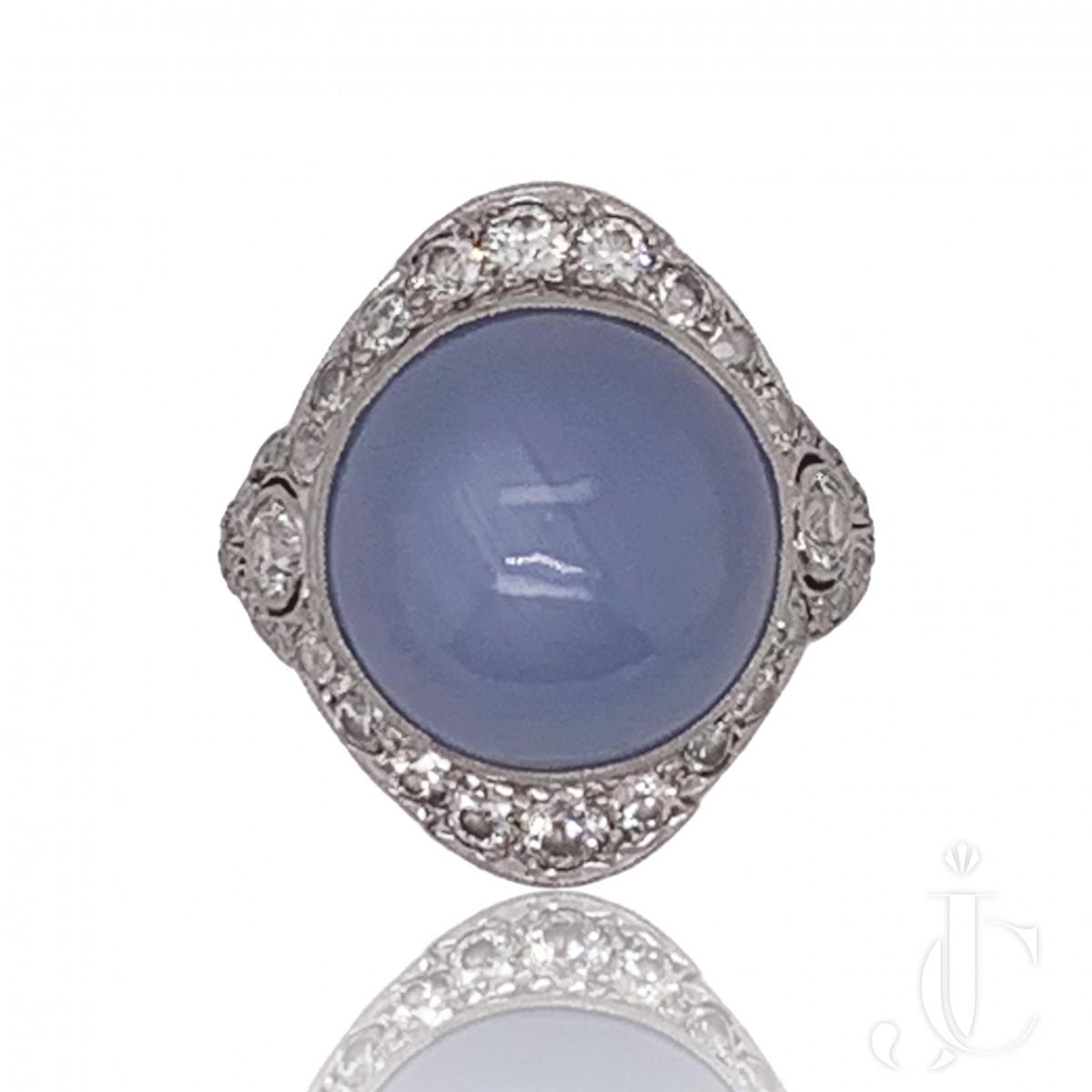Tiffany Art Deco Star Sapphire Ring