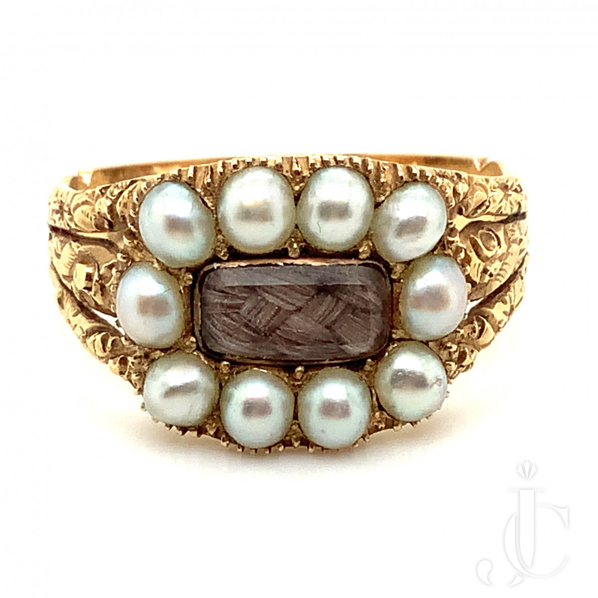 Georgian Gold and Pearl Mourning Ring