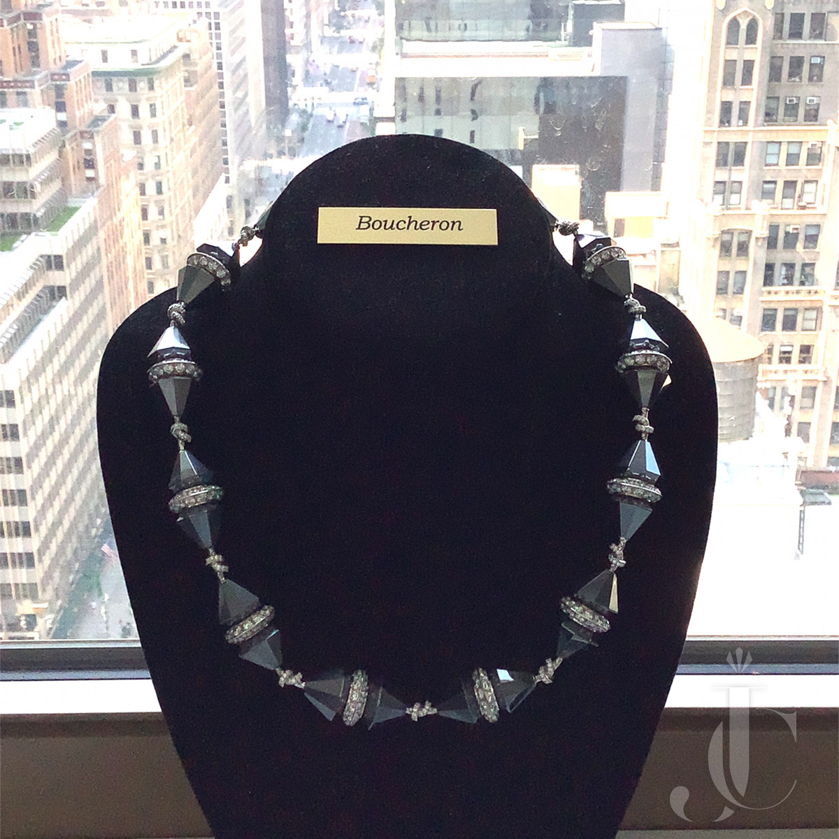 Boucheron Hematite and Diamond Necklace