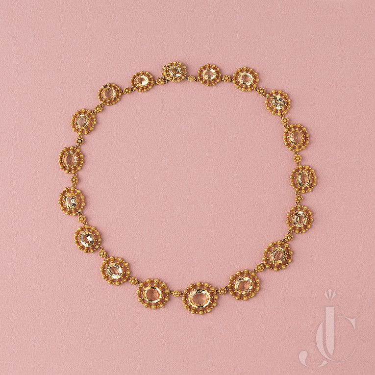 Georgian Gold and Topaz `necklace