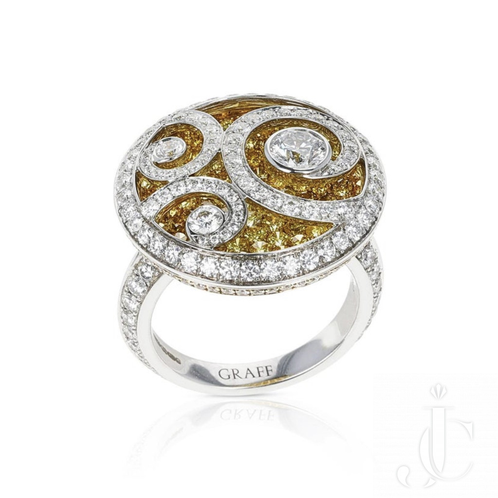 GRAFF Yellow Diamond on Diamond ring